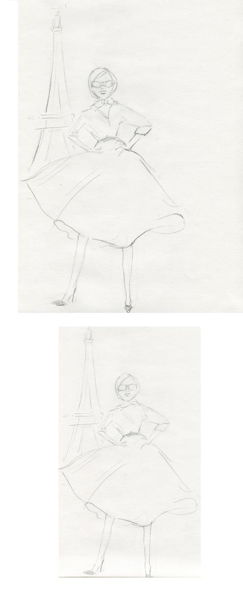 Sketches: Monica's Retro Inspiration - image 3 - student project