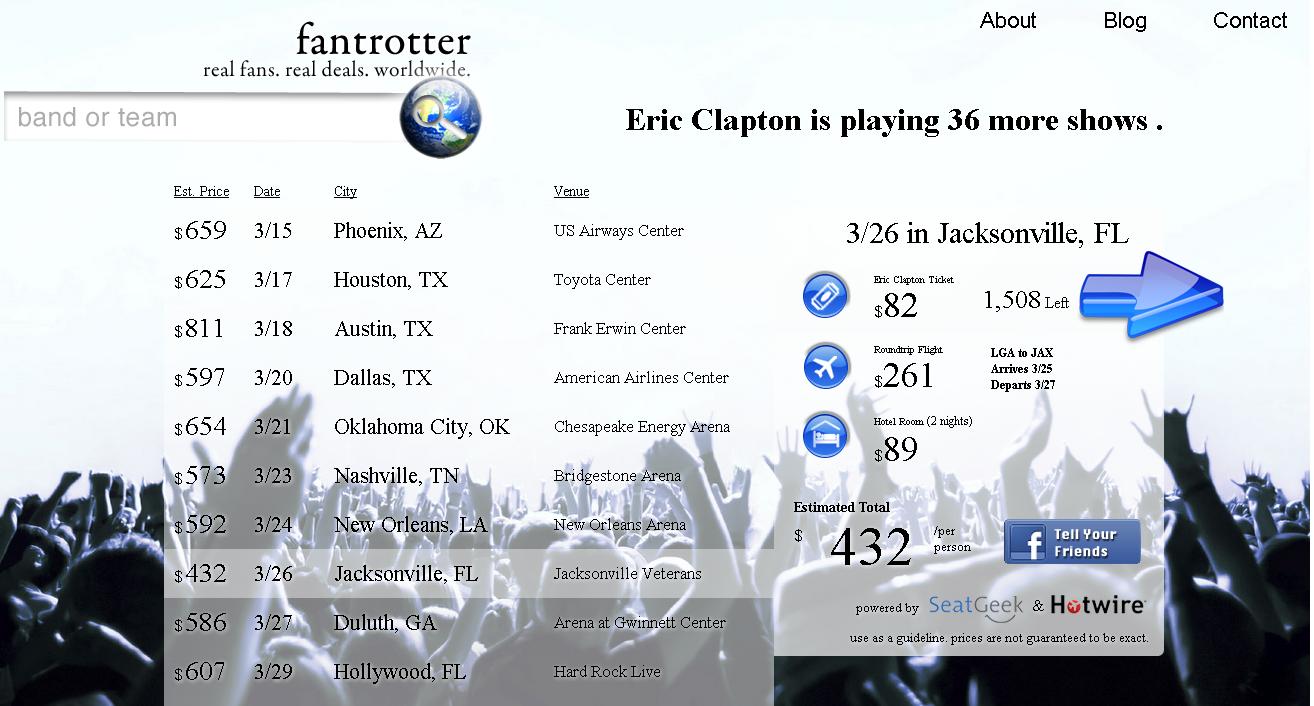 FanTrotter.com - image 1 - student project