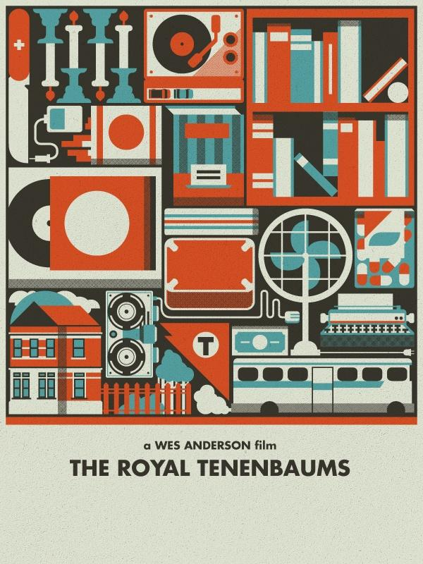 Royal Tenenbaums Movie Poster - image 1 - student project