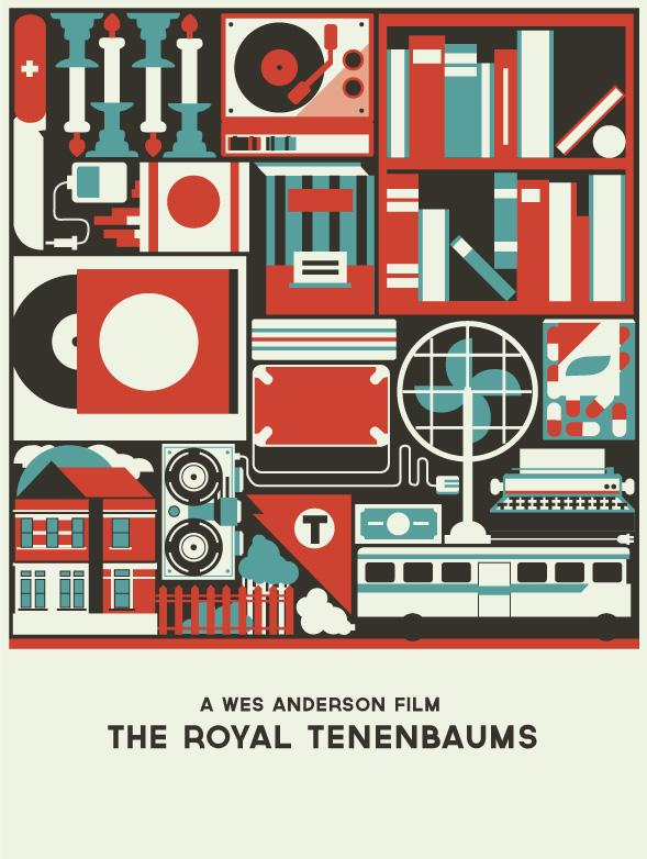 Royal Tenenbaums Movie Poster - image 2 - student project