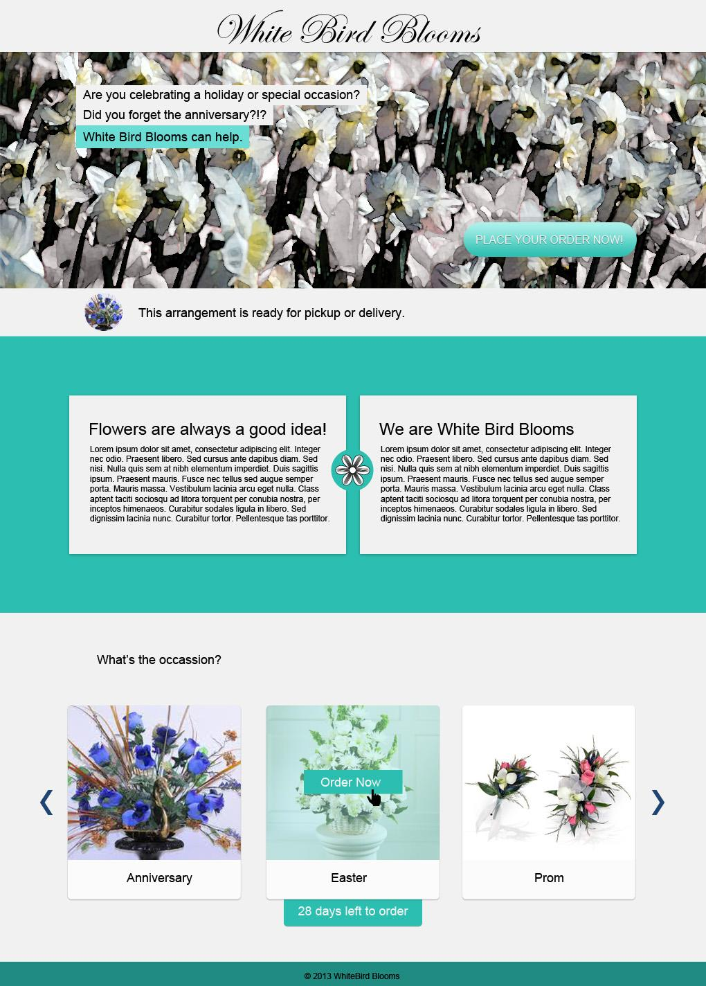 White Bird Blooms - image 1 - student project