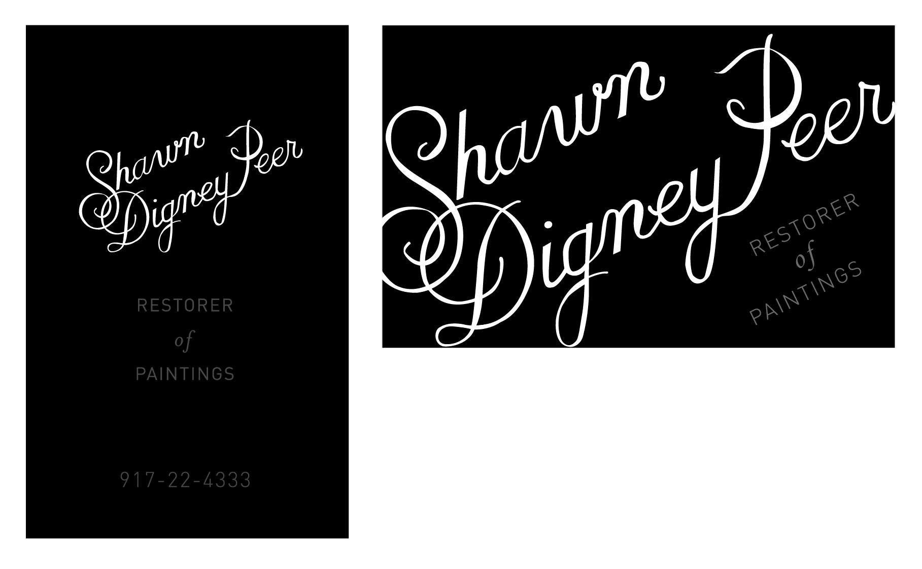 Business Card for a Paintings Restorer - image 1 - student project