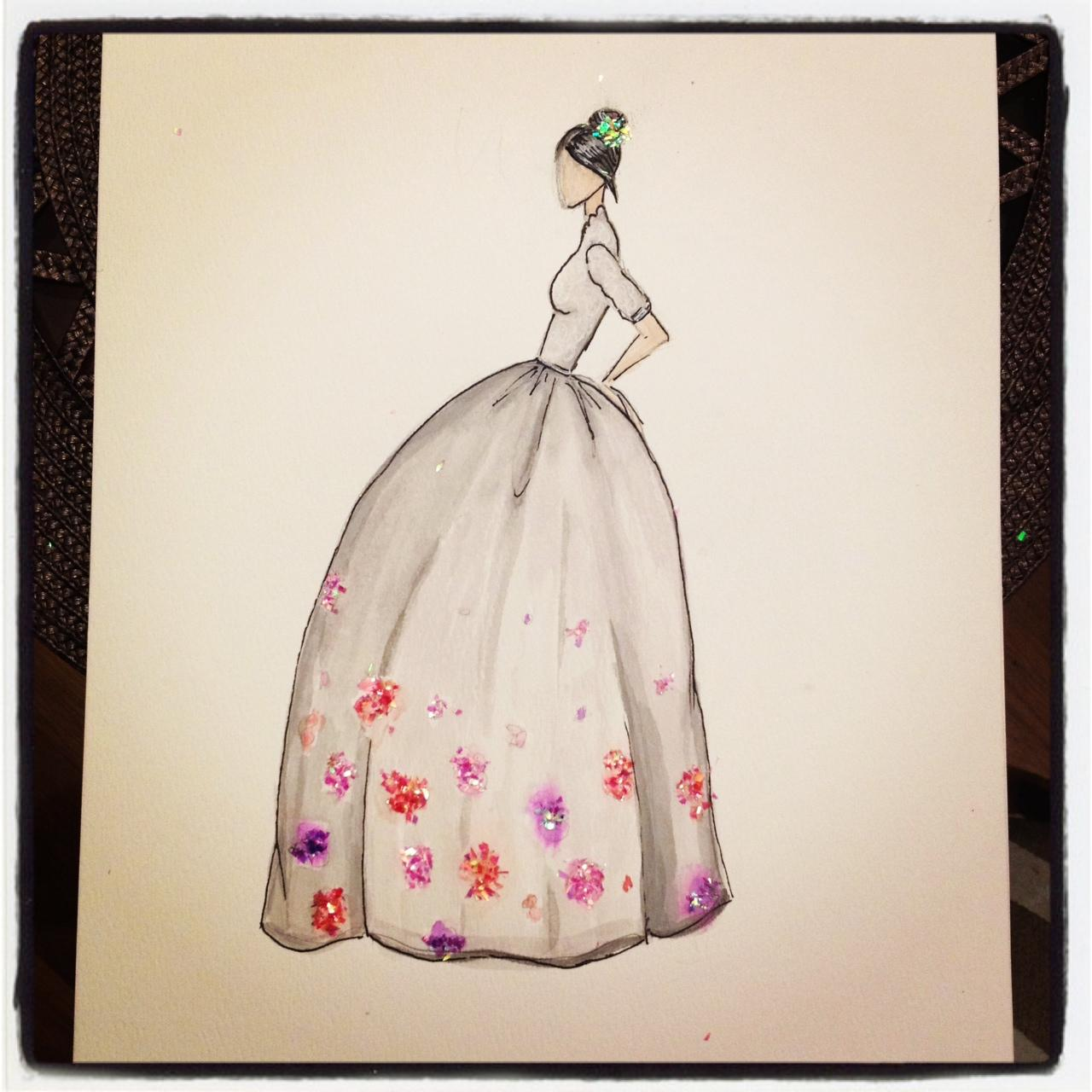 FINAL ~ EMBELLISHED ~ WATERCOLOR ~ SKETCHES ~ Feminine Ways - image 15 - student project
