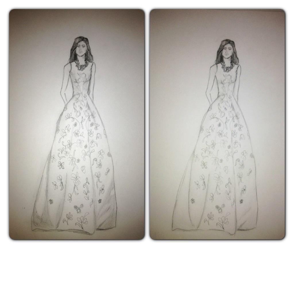 FINAL ~ EMBELLISHED ~ WATERCOLOR ~ SKETCHES ~ Feminine Ways - image 17 - student project