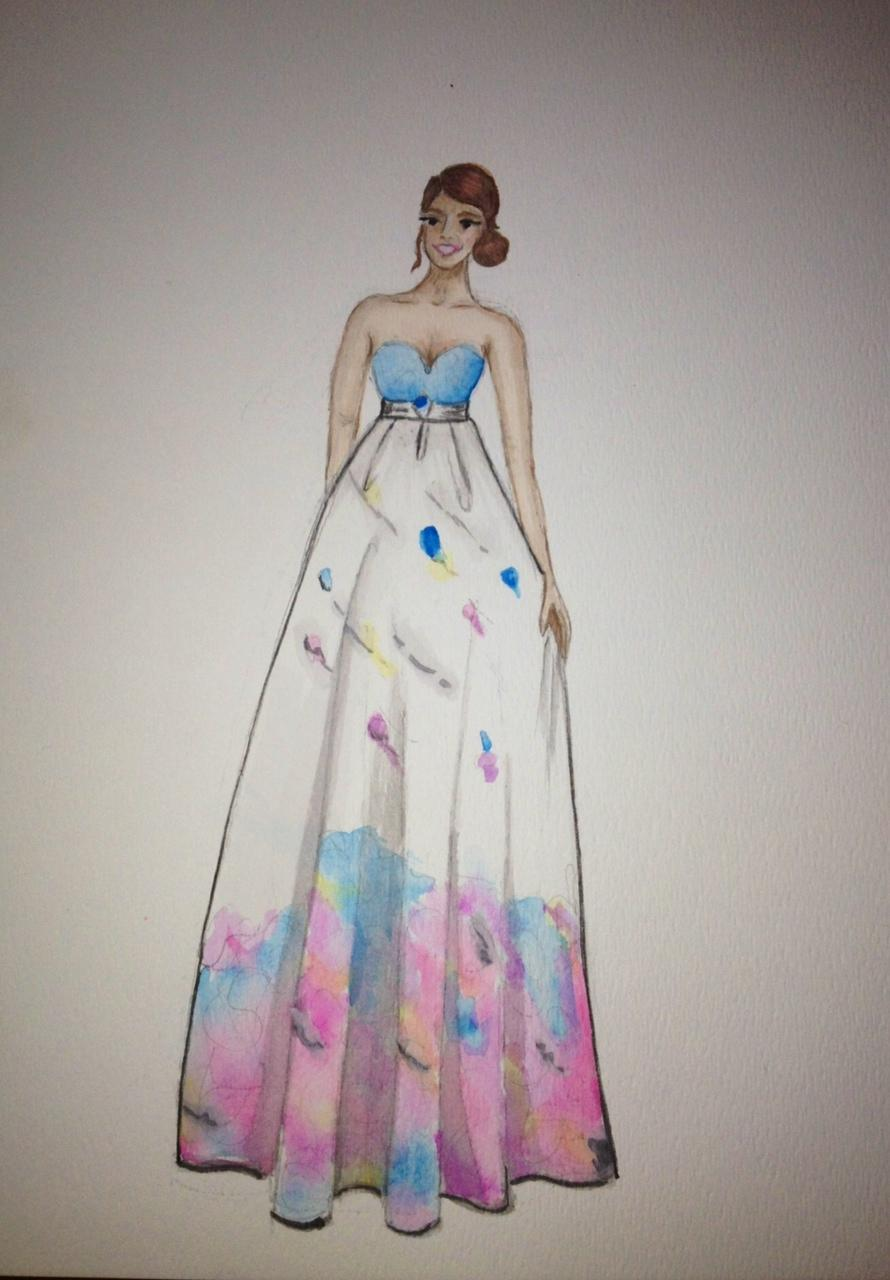 FINAL ~ EMBELLISHED ~ WATERCOLOR ~ SKETCHES ~ Feminine Ways - image 10 - student project