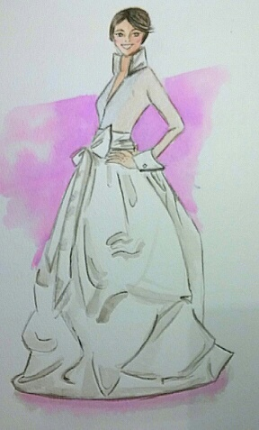 FINAL ~ EMBELLISHED ~ WATERCOLOR ~ SKETCHES ~ Feminine Ways - image 4 - student project