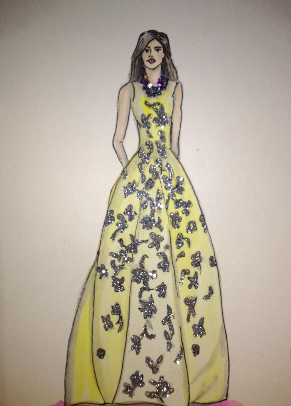 FINAL ~ EMBELLISHED ~ WATERCOLOR ~ SKETCHES ~ Feminine Ways - image 19 - student project