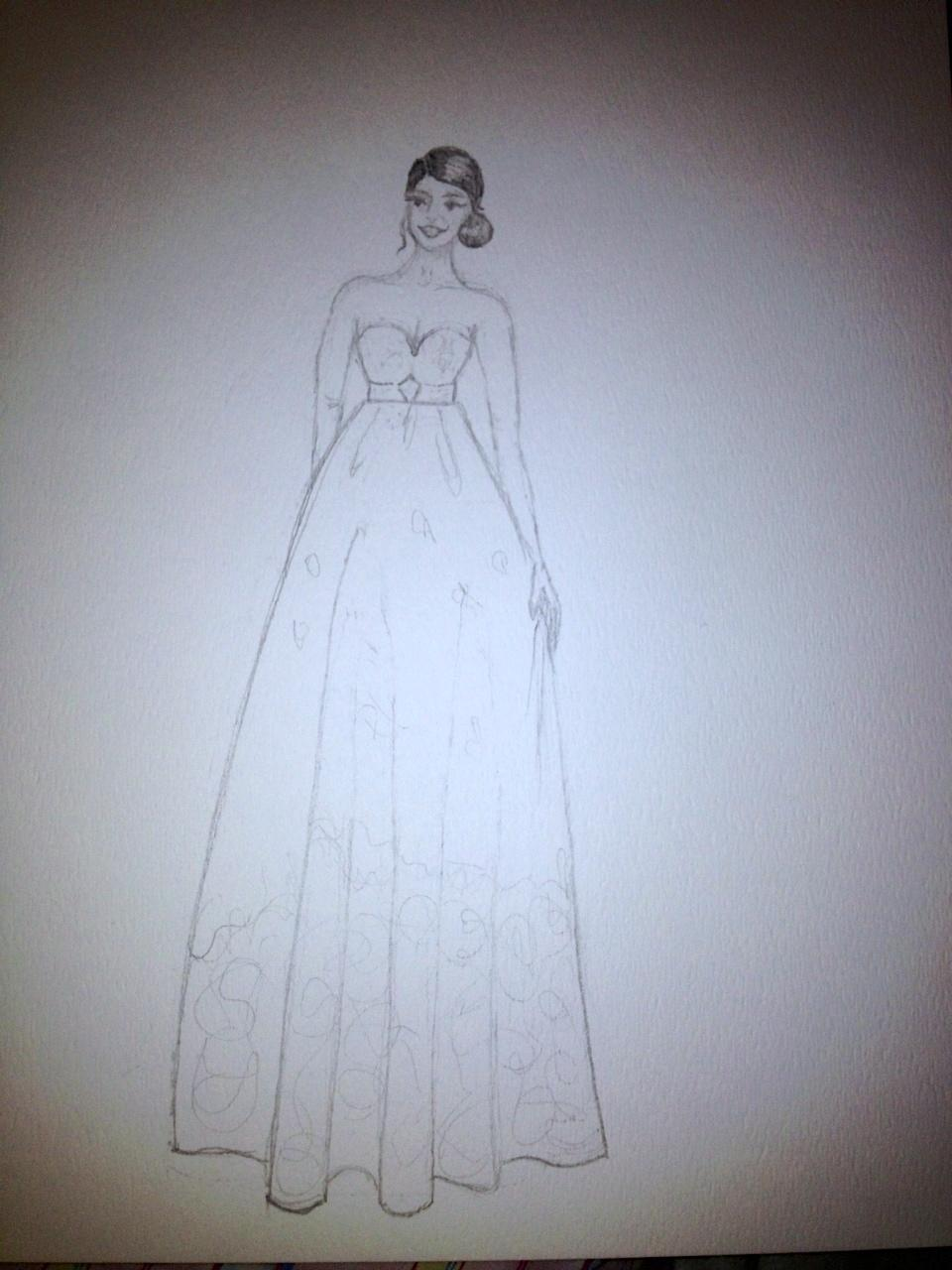 FINAL ~ EMBELLISHED ~ WATERCOLOR ~ SKETCHES ~ Feminine Ways - image 9 - student project