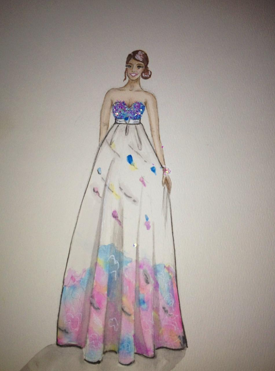 FINAL ~ EMBELLISHED ~ WATERCOLOR ~ SKETCHES ~ Feminine Ways - image 11 - student project