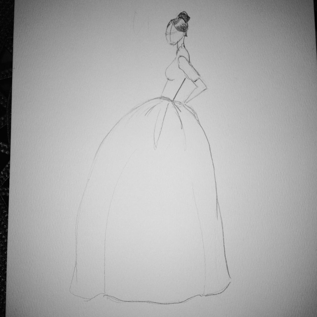 FINAL ~ EMBELLISHED ~ WATERCOLOR ~ SKETCHES ~ Feminine Ways - image 13 - student project