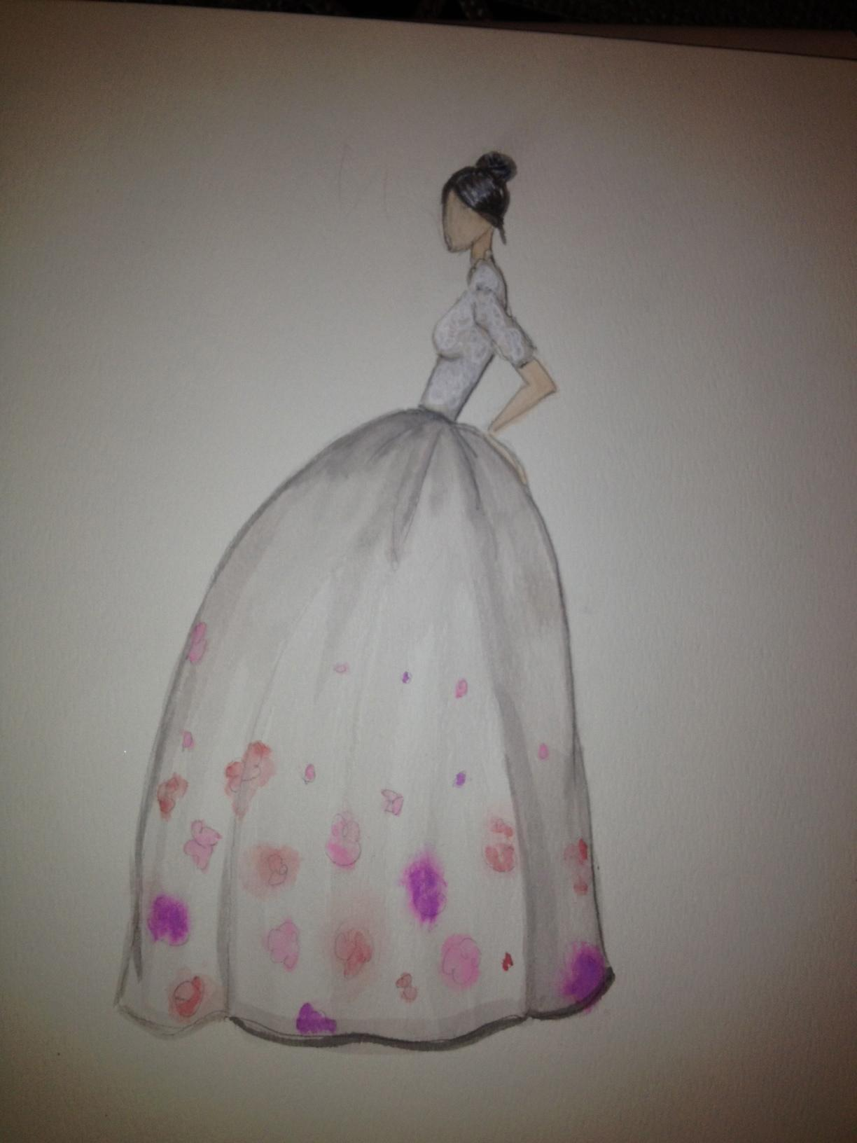 FINAL ~ EMBELLISHED ~ WATERCOLOR ~ SKETCHES ~ Feminine Ways - image 14 - student project