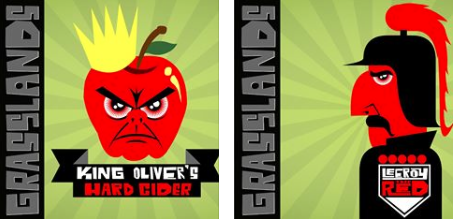 Grasslands Brewery Beer Labels - image 3 - student project