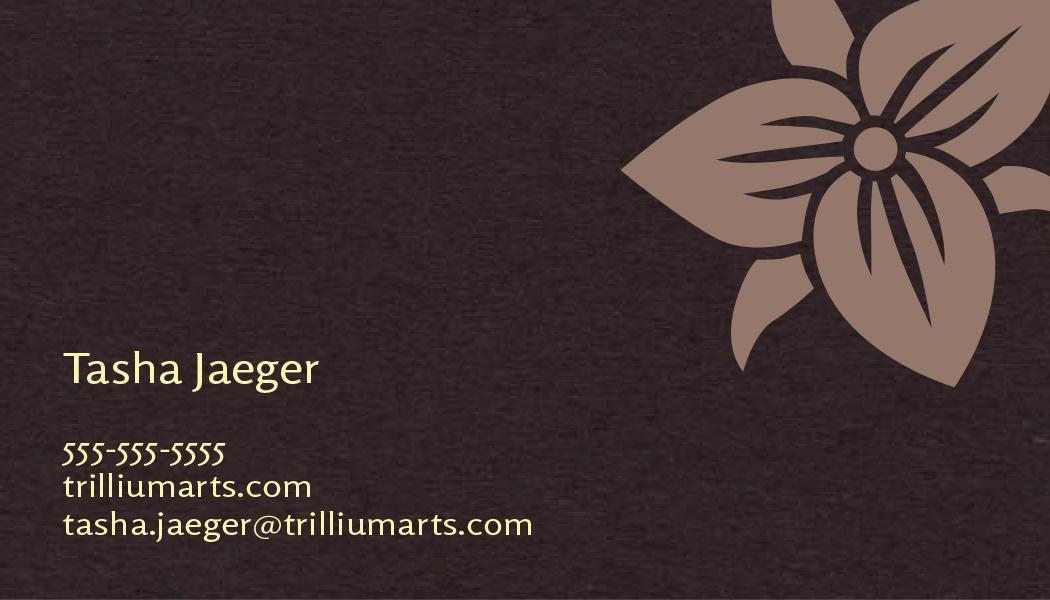 Trillium Arts Business Card options - image 3 - student project