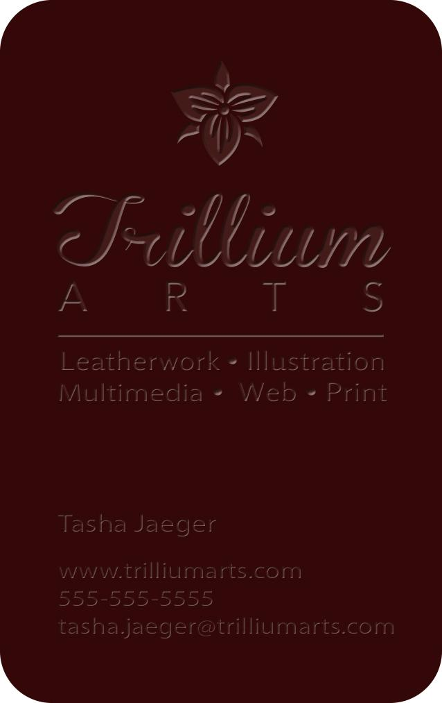 Trillium Arts Business Card options - image 4 - student project