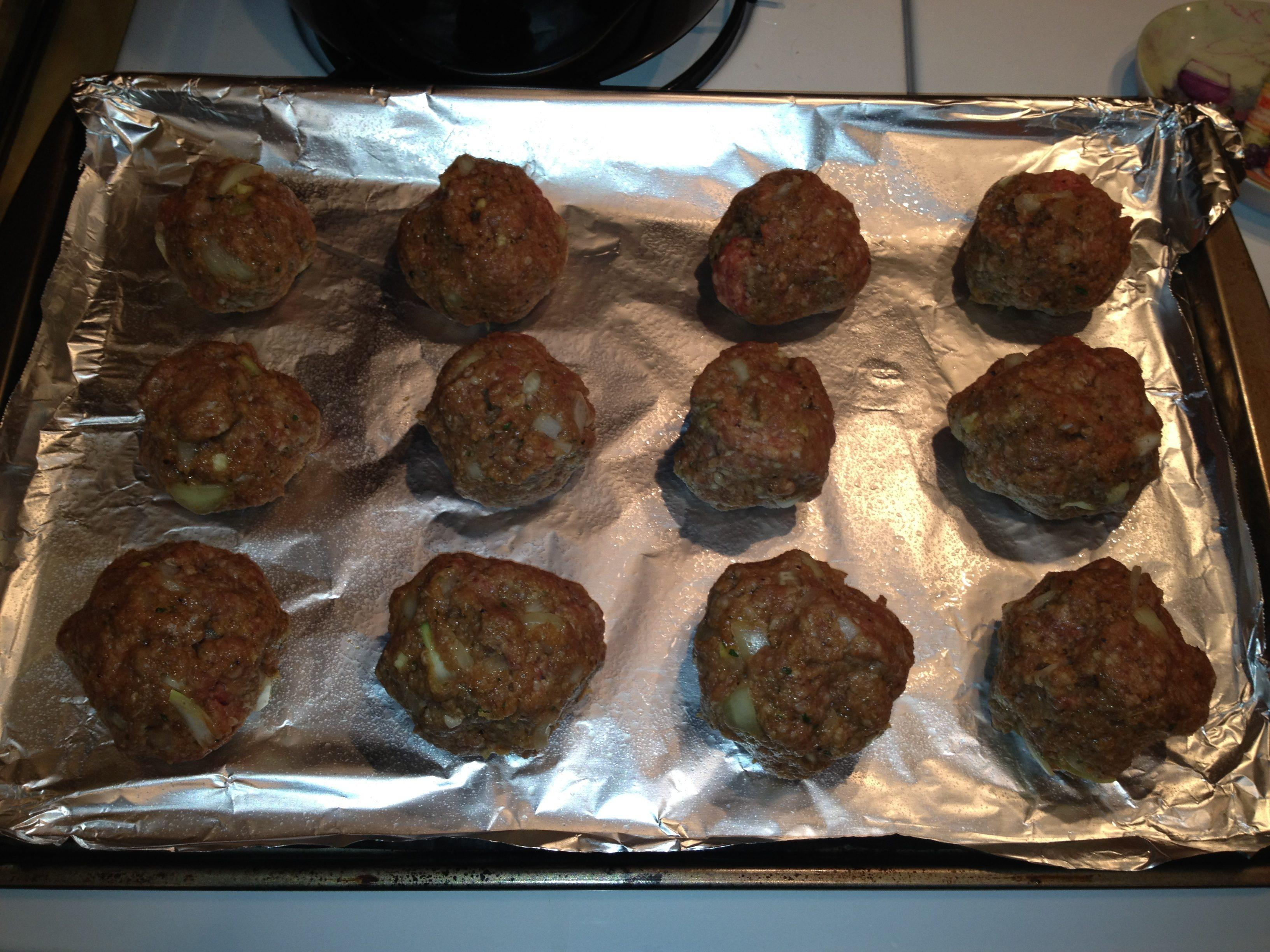 Pepper Jack Cheese Stuffed Meatballs - image 1 - student project