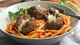 Marina McGowan - Pepper Jack Cheese Stuffed Meatballs