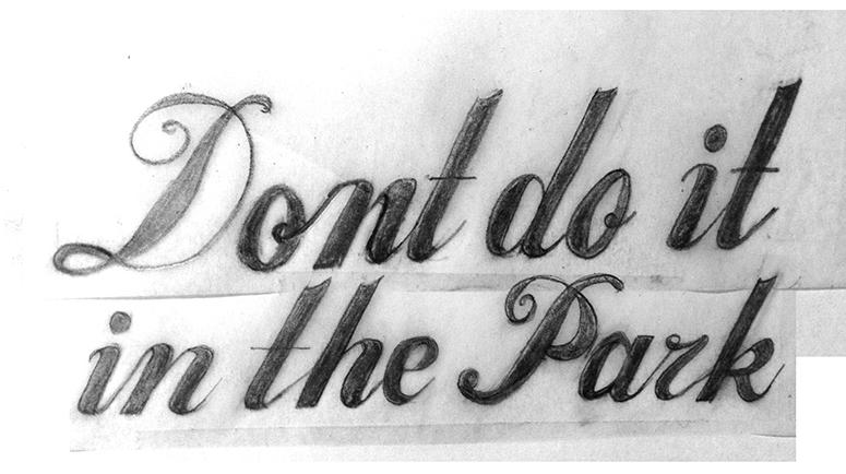 Don't do it in the Park - image 1 - student project
