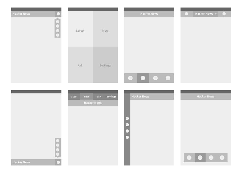 Hacker News iOS App - image 1 - student project