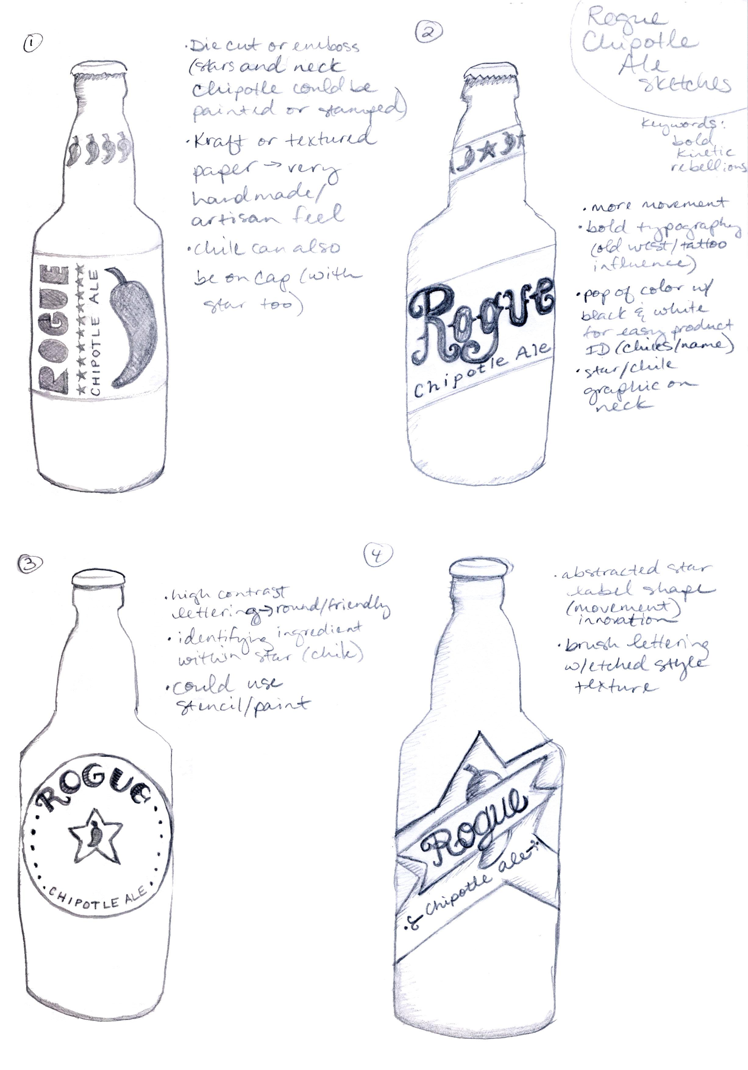 Bottle Label Redesign for Rogue Brand Chipotle Ale - image 6 - student project