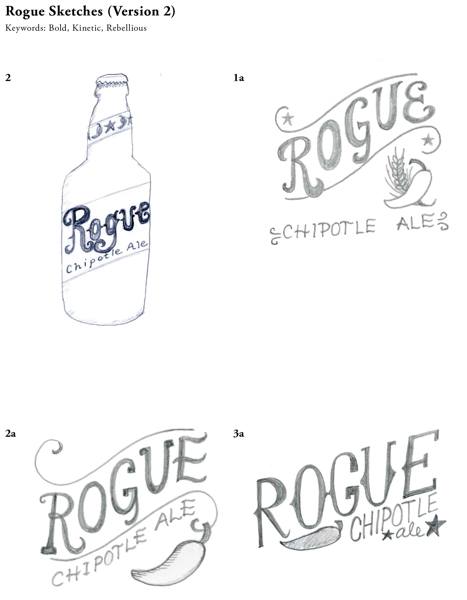 Bottle Label Redesign for Rogue Brand Chipotle Ale - image 7 - student project