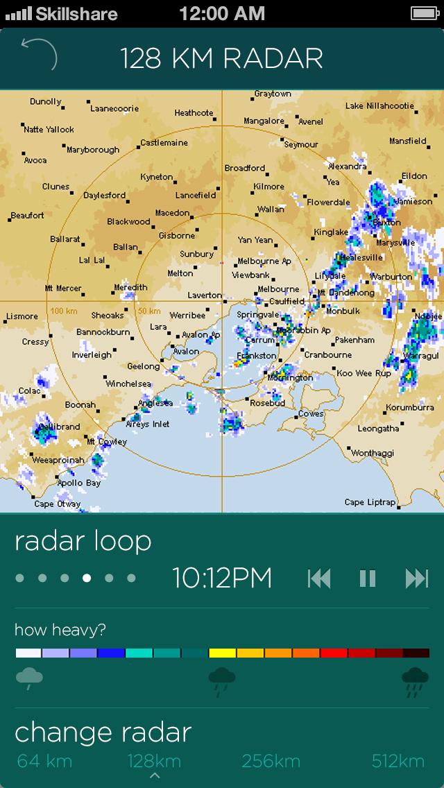 Australian weather app - image 11 - student project