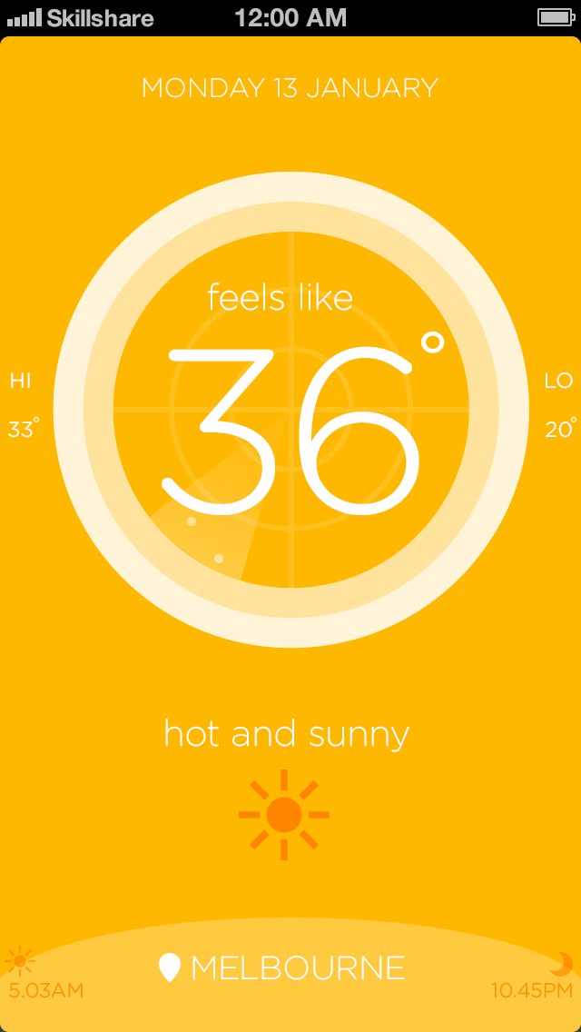 Australian weather app - image 5 - student project
