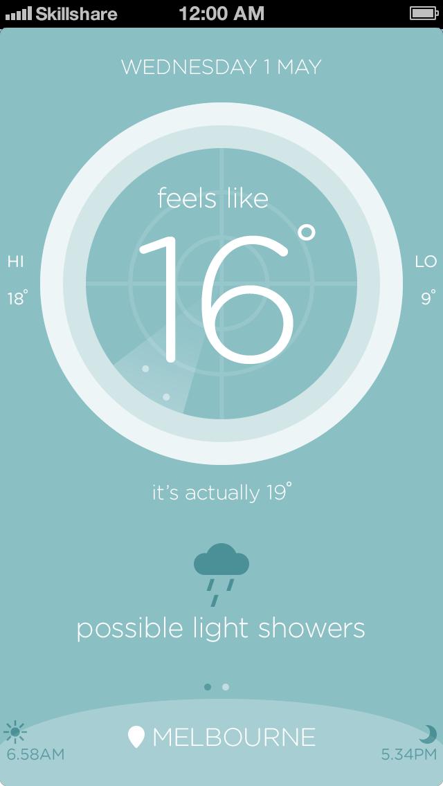 Australian weather app - image 8 - student project