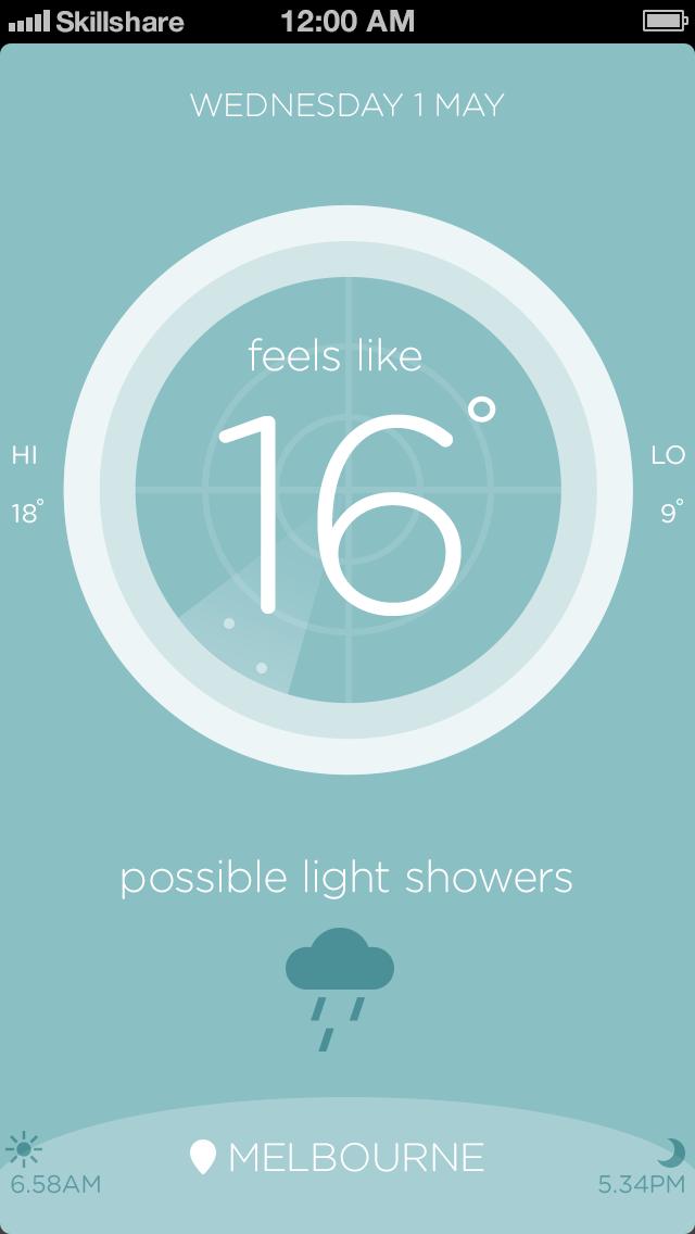Australian weather app - image 4 - student project