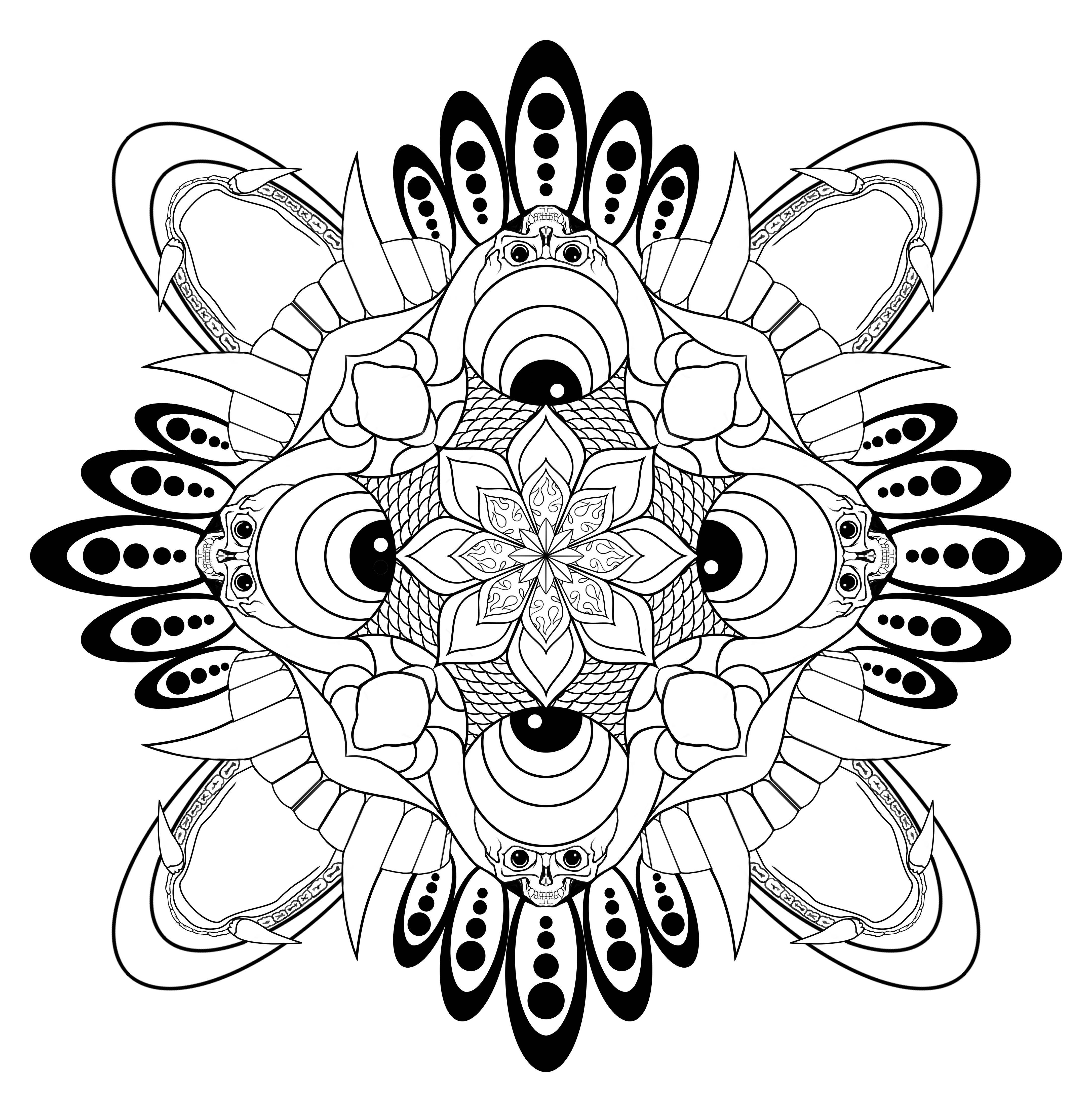 Tibetan style Mandala - image 3 - student project