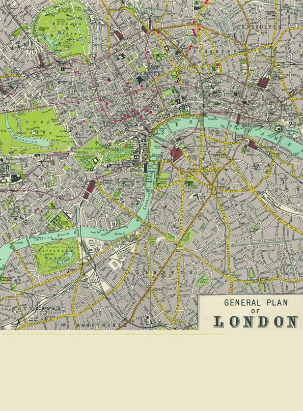 London - Places I Recall, Now Gone / Imaginary Map / The World As I Knew it as a Child - image 1 - student project