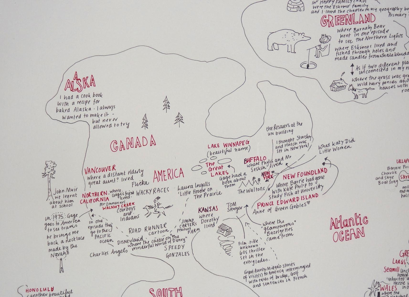 London - Places I Recall, Now Gone / Imaginary Map / The World As I Knew it as a Child - image 4 - student project