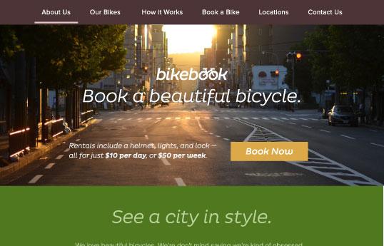 BikeBook Website - Moonrise Kingdom Inspired - image 6 - student project