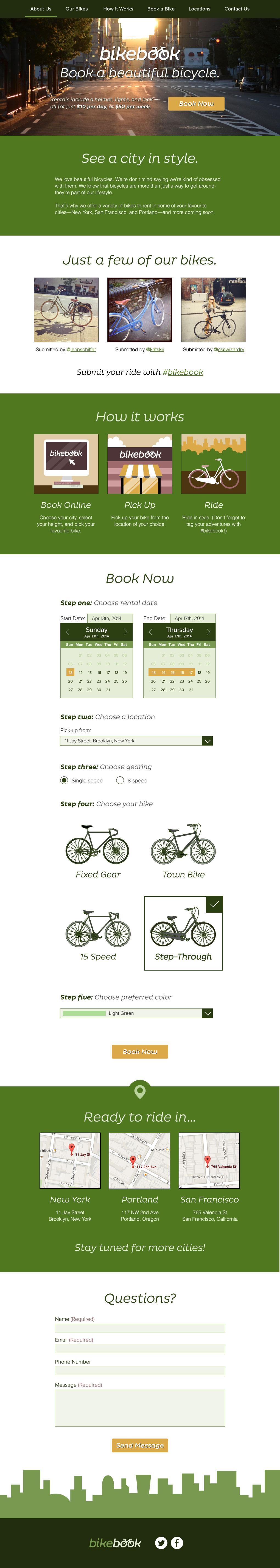 BikeBook Website - Moonrise Kingdom Inspired - image 7 - student project