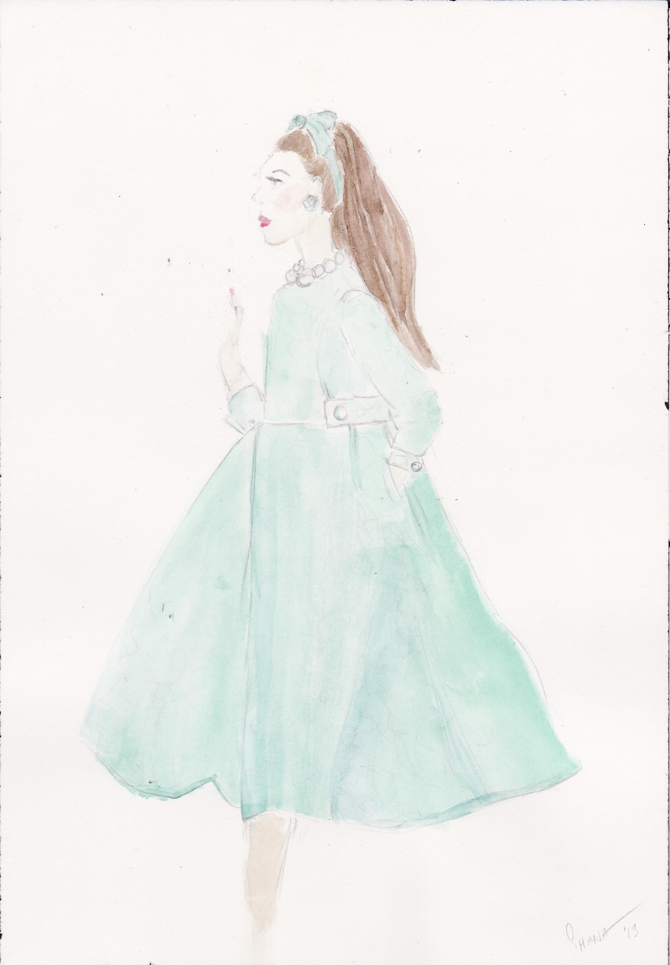 WATERCOLOR: Vintage Glamour - image 1 - student project