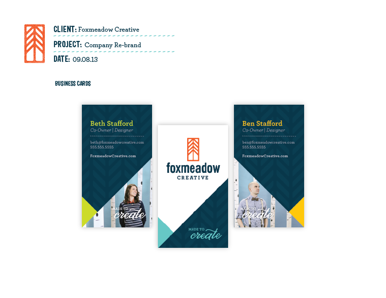 Foxmeadow Creative - Rebrand - image 6 - student project