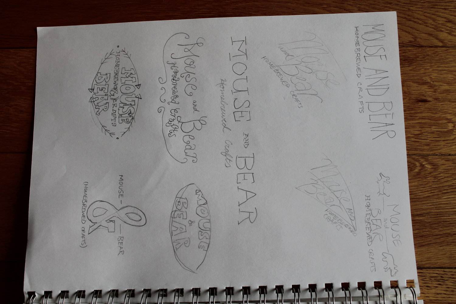 Logos for Mouse and Bear Homebrewed Crafts - image 4 - student project