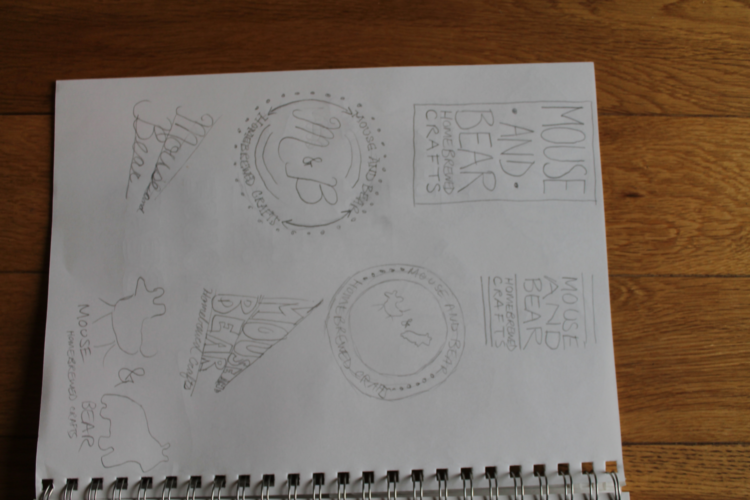 Logos for Mouse and Bear Homebrewed Crafts - image 6 - student project