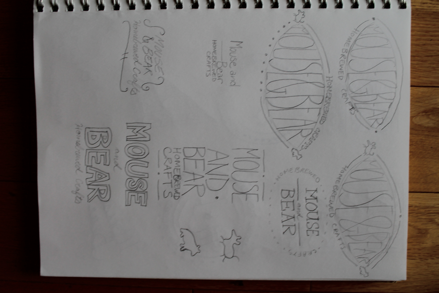 Logos for Mouse and Bear Homebrewed Crafts - image 5 - student project