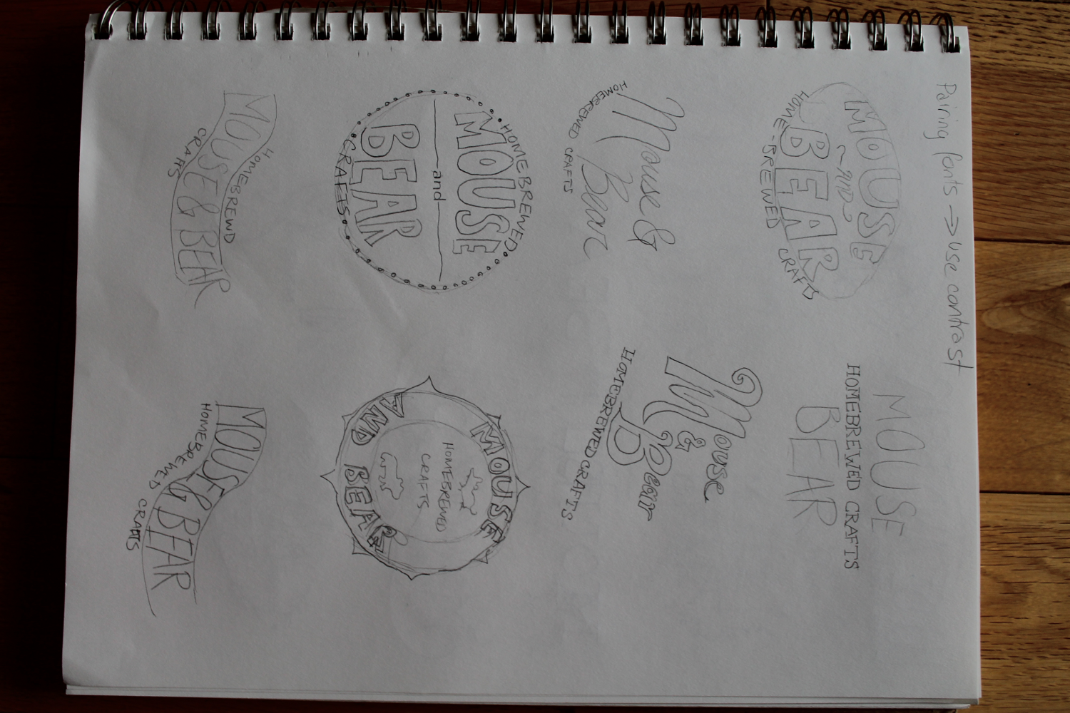 Logos for Mouse and Bear Homebrewed Crafts - image 3 - student project