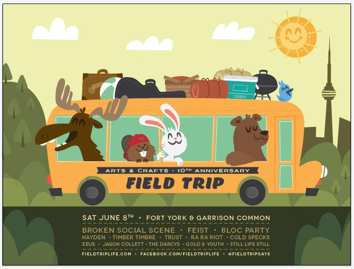 FIELD TRIP ft. Broken Social Scene, Feist & Bloc Party - image 11 - student project