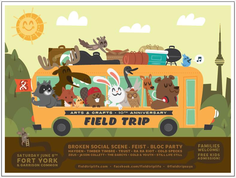 FIELD TRIP ft. Broken Social Scene, Feist & Bloc Party - image 9 - student project