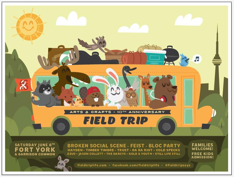 FIELD TRIP ft. Broken Social Scene, Feist & Bloc Party - image 8 - student project