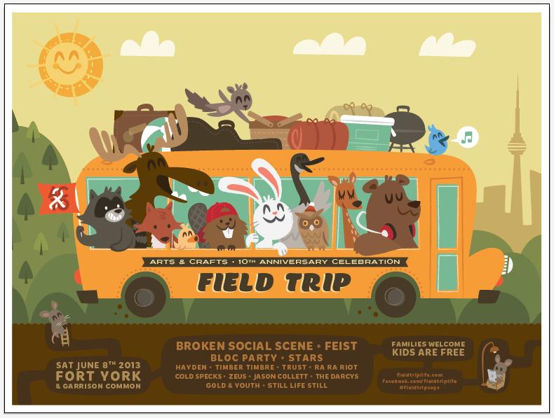 FIELD TRIP ft. Broken Social Scene, Feist & Bloc Party - image 7 - student project