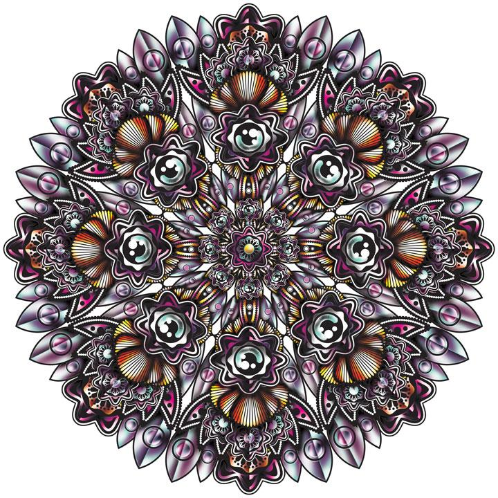 Mandala Line art colour and shading. - image 1 - student project