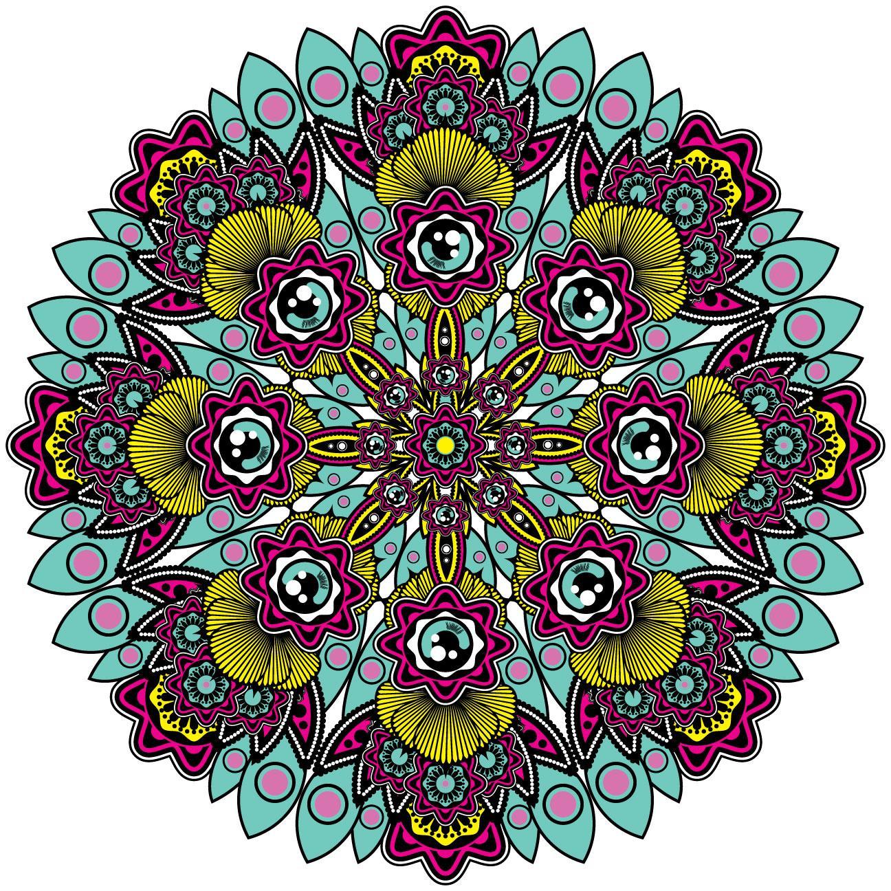 Mandala Line art colour and shading. - image 2 - student project