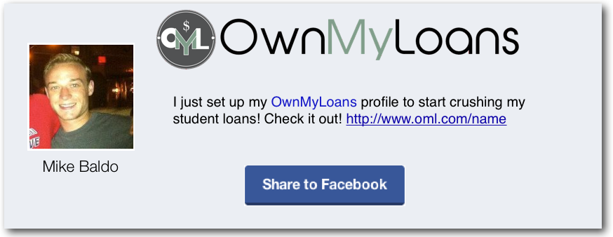 OwnMyLoans- Cooperative, rewarding, student loan repayment - image 2 - student project