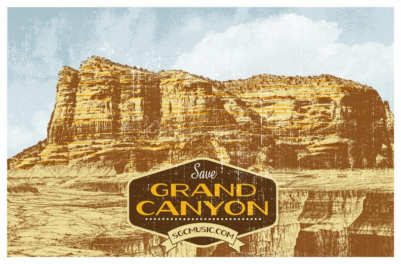 Save Grand Canyon Gigposter - image 1 - student project