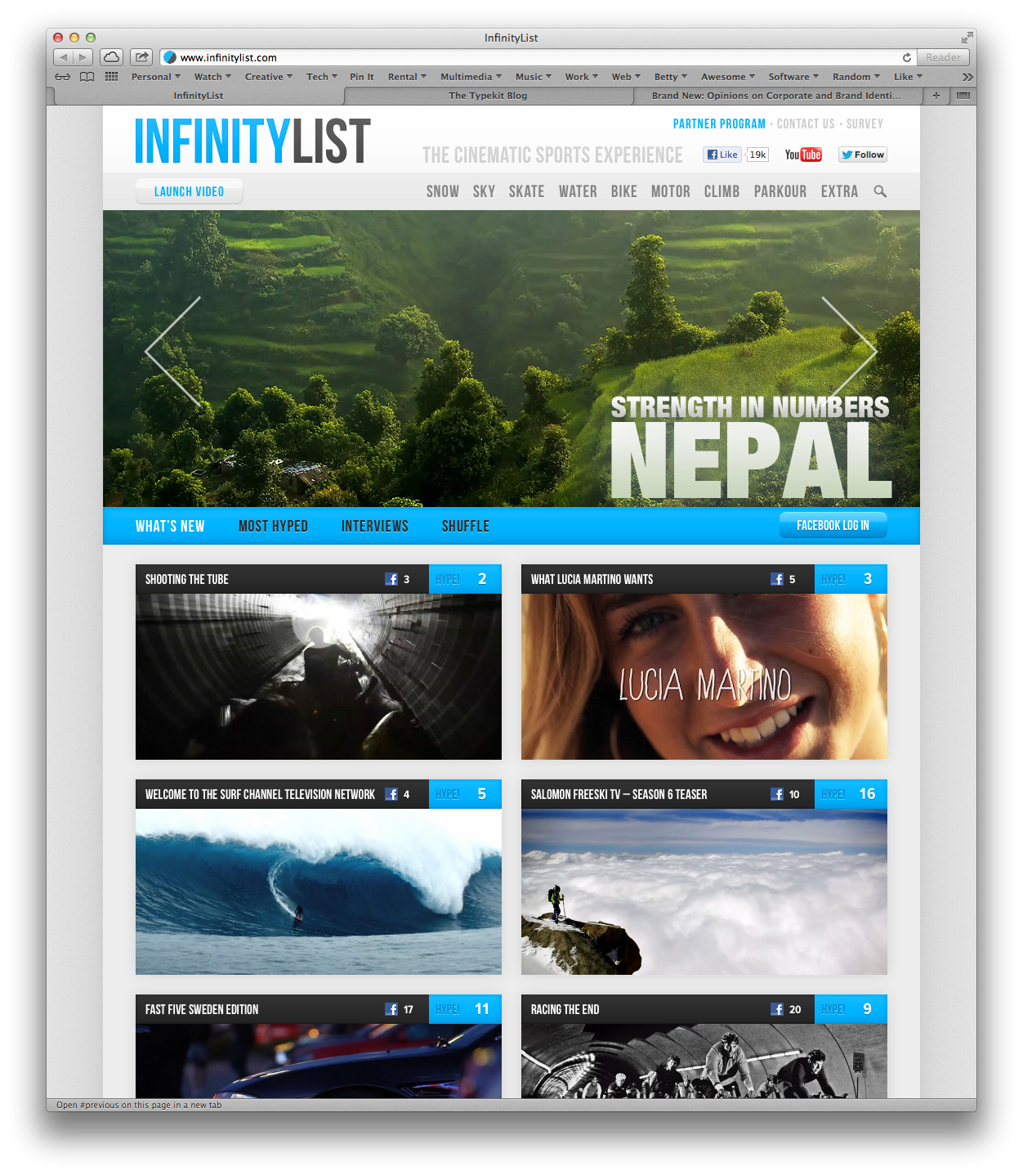 InfinityList –The Cinematic Action Sports Experience - image 1 - student project