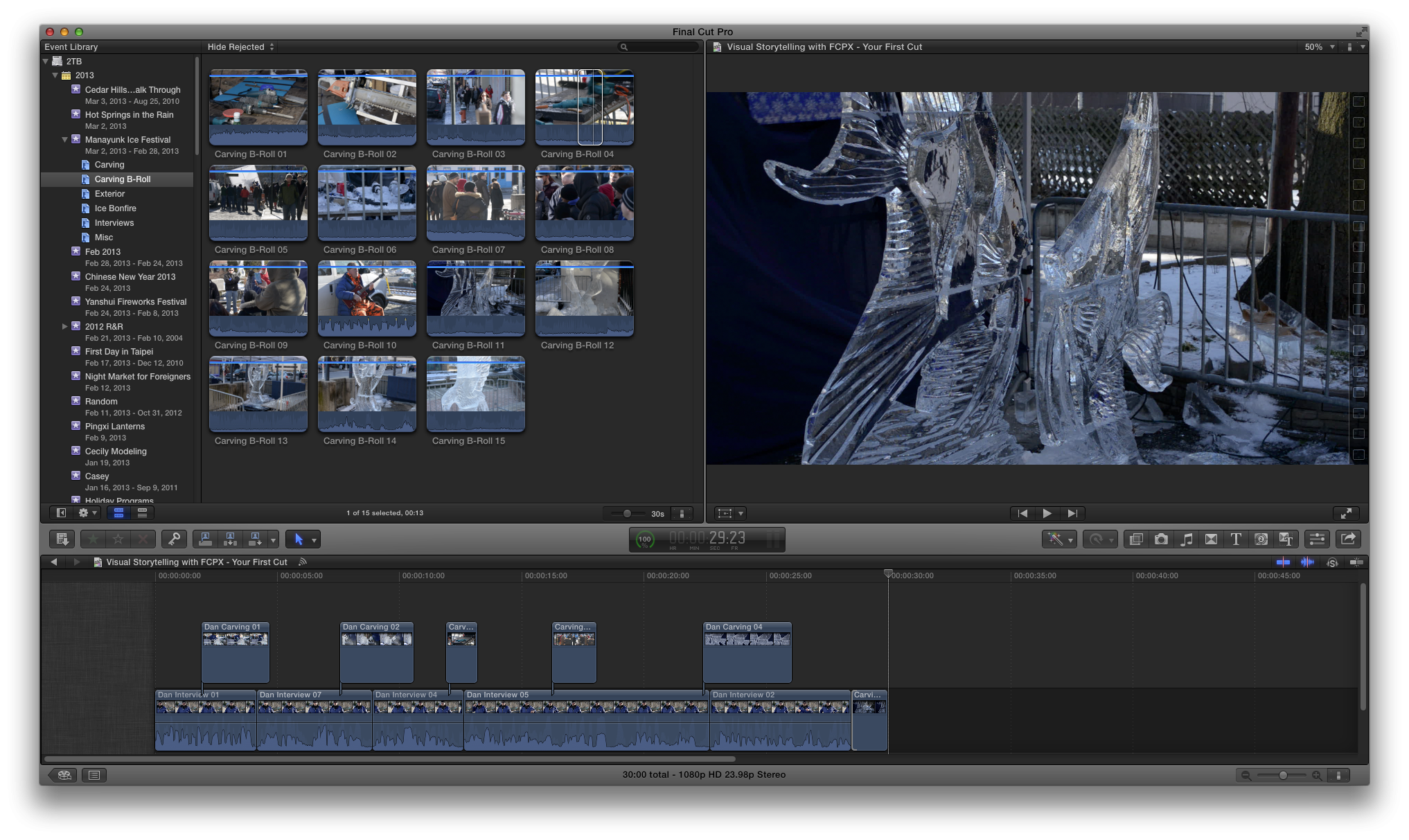 Visual Storytelling with FCPX - Your First Cut - image 1 - student project