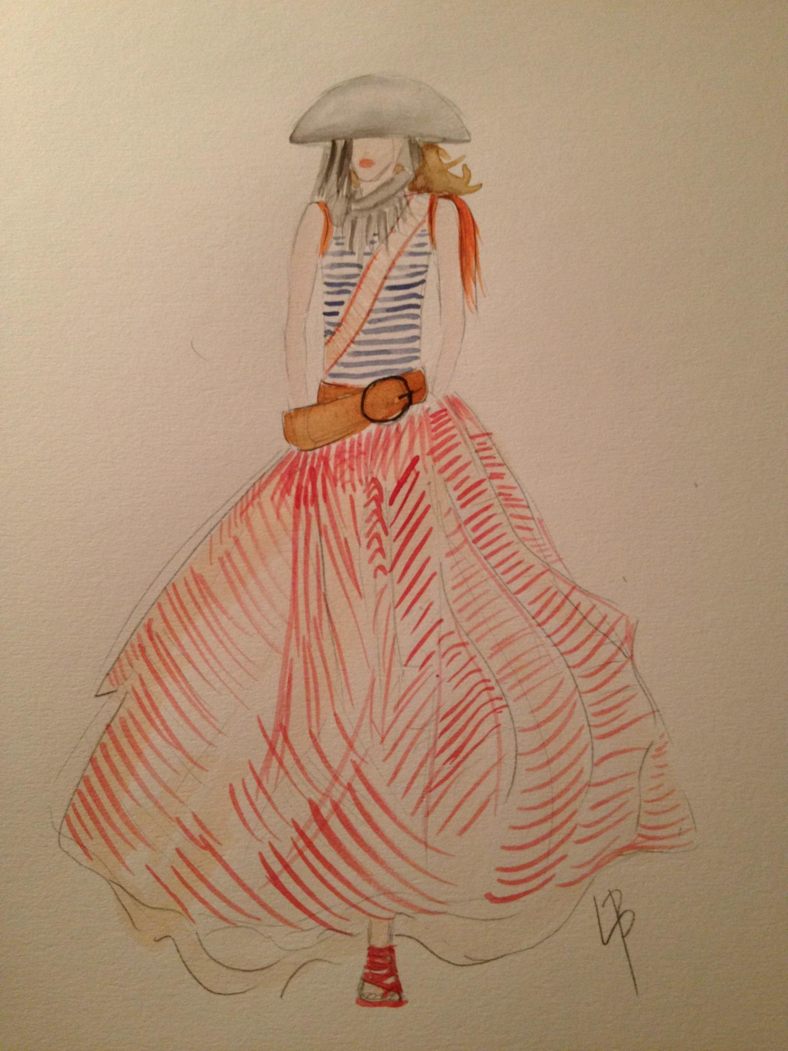 Final embellished watercolors: Silk and Tulle - image 9 - student project